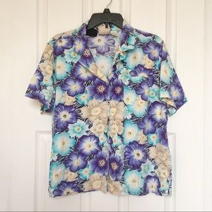 Erika Hawaiian Shirt-Blue/Yellow-Size XL